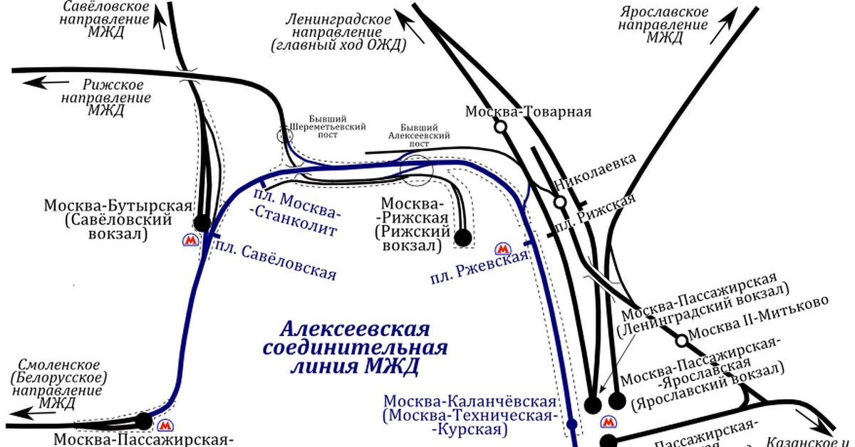алексеевская соединительная ветка МЦД-1